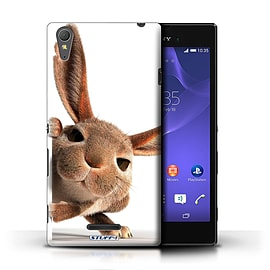 STUFF4 Phone Case/Cover for Sony Xperia T3/Peeking Bunny Design/Funny Animals Mobile phones