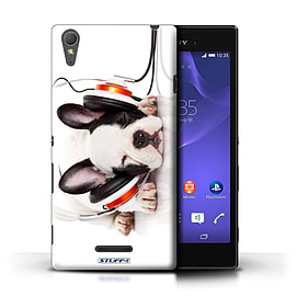 STUFF4 Phone Case/Cover for Sony Xperia T3/Snooze Headphone Dog Design/Funny Animals Mobile phones