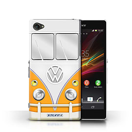 STUFF4 Phone Case/Cover for Sony Xperia Z1 Compact/Orange Design/VW Camper Van Mobile phones