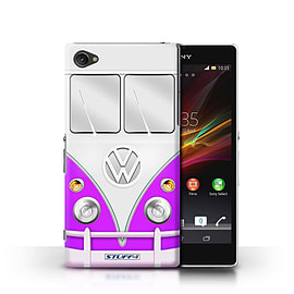 STUFF4 Phone Case/Cover for Sony Xperia Z1 Compact/Purple Design/VW Camper Van Mobile phones