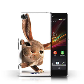 STUFF4 Phone Case/Cover for Sony Xperia Z1 Compact/Peeking Bunny Design/Funny Animals Mobile phones