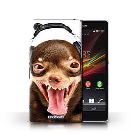 STUFF4 Phone Case/Cover for Sony Xperia Z1 Compact/Ridiculous Dog Design/Funny Animals Mobile phones