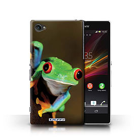 STUFF4 Phone Case/Cover for Sony Xperia Z1 Compact/Frog Design/Wildlife Animals Mobile phones