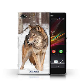 STUFF4 Phone Case/Cover for Sony Xperia Z1 Compact/Wolf Design/Wildlife Animals Mobile phones
