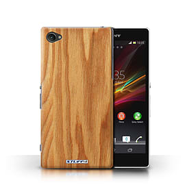STUFF4 Phone Case/Cover for Sony Xperia Z1 Compact/Oak Design/Wood Grain Effect/Pattern Mobile phones