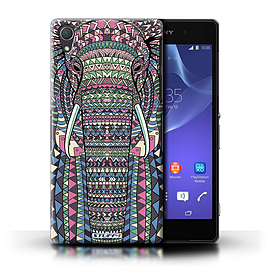 STUFF4 Phone Case/Cover for Sony Xperia Z2/Elephant-Colour Design/Aztec Animal Design Mobile phones