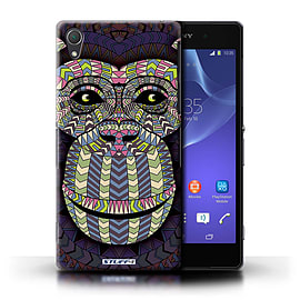 STUFF4 Phone Case/Cover for Sony Xperia Z2/Monkey-Colour Design/Aztec Animal Design Mobile phones