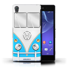 STUFF4 Phone Case/Cover for Sony Xperia Z2/Blue Design/VW Camper Van Mobile phones