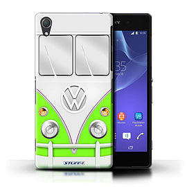 STUFF4 Phone Case/Cover for Sony Xperia Z2/Green Design/VW Camper Van Mobile phones