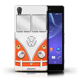 STUFF4 Phone Case/Cover for Sony Xperia Z2/Red Design/VW Camper Van Mobile phones