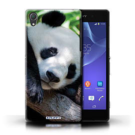 STUFF4 Phone Case/Cover for Sony Xperia Z2/Panda Bear Design/Wildlife Animals Mobile phones