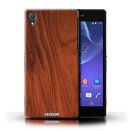 STUFF4 Phone Case/Cover for Sony Xperia Z2/Mahogany Design/Wood Grain Effect/Pattern Mobile phones