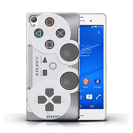STUFF4 Phone Case/Cover for Sony Xperia Z3/Playstation PS1 Design/Games Console Mobile phones