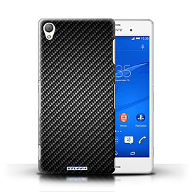 STUFF4 Phone Case/Cover for Sony Xperia Z3/Grey Design/Carbon Fibre Effect/Pattern Mobile phones
