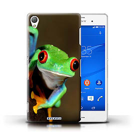 STUFF4 Phone Case/Cover for Sony Xperia Z3/Frog Design/Wildlife Animals Mobile phones