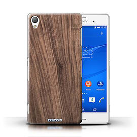 STUFF4 Phone Case/Cover for Sony Xperia Z3/Walnut Design/Wood Grain Effect/Pattern Mobile phones