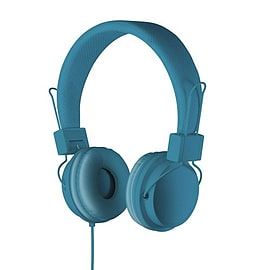 GHP03SP On-Ear Headphones with Mic & Volume Control - Blue Audio
