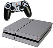 PS4 Skin EXCLUSIVE Anniversary Style Grey Skin with 2 Controller Skins Playstation 4 screen shot 1