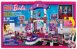 Mega Bloks Barbie Build n Play Super Star Stage Blocks and Bricks