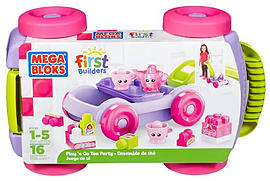 Mega Bloks First Builders Pull-n-Go Tea Party Blocks and Bricks