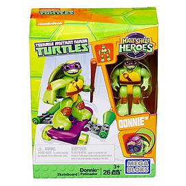 Mega Bloks Teenage Mutant Ninja Turtles Half-Shell Heroes Donnie with Skateboard Blocks and Bricks