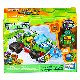 Mega Bloks Teenage Mutant Ninja Turtles Half-Shell Heroes Leo Turtle Buggy Blocks and Bricks