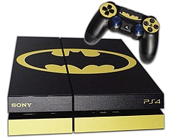 PS4 Skin EXCLUSIVE Original BATMAN Logo with 2 Controller Skins Playstation 4 PS4