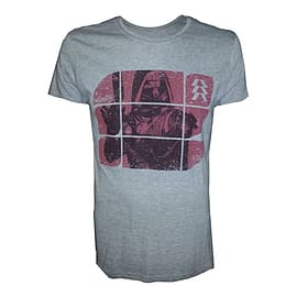 Destiny Hunter On Red Blocks Pattern Large T-shirt, Grey Clothing