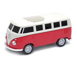Official VW Camper Van Bluetooth Wireless Music Speaker - Red Audio
