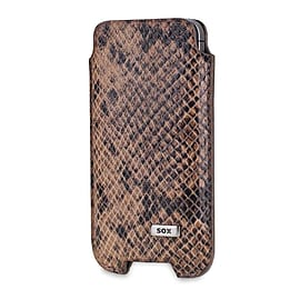 Sox Serpente Genuine Leather Premium Mobile Phone Pouch, Large, Brown (sox Kse 03 L) Mobile phones