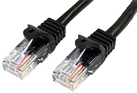Cat5e Patch Cable With Snagless Rj45 Connectors 3m Black Multi Format and Universal