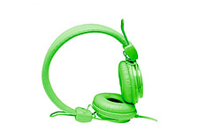 NEON Lightweight Stereo Headphones for iPhone iPod MP3 Smartphone - Green screen shot 2