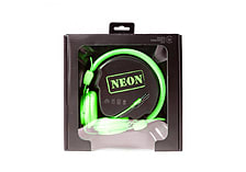 NEON Lightweight Stereo Headphones for iPhone iPod MP3 Smartphone - Green screen shot 4