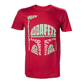 Star Wars Boba Fett Word Play T-Shirt Extra Large Red TS110619STW-XL TS110619STW-XL Clothing