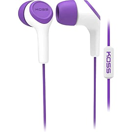Koss - Keb15ip In-ear Headset With Mic, Purple Audio