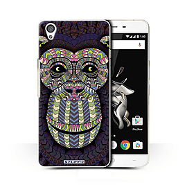 STUFF4 Phone Case/Cover for OnePlus X/Monkey-Colour Design/Aztec Animal Design Collection Mobile phones