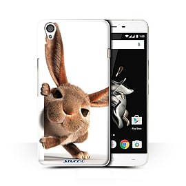 STUFF4 Phone Case/Cover for OnePlus X/Peeking Bunny Design/Funny Animals Collection Mobile phones