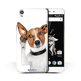 STUFF4 Phone Case/Cover for OnePlus X/Listening Dog Design/Funny Animals Collection Mobile phones