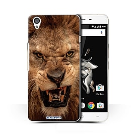 STUFF4 Phone Case/Cover for OnePlus X/Lion Design/Wildlife Animals Collection Mobile phones