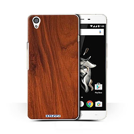 STUFF4 Phone Case/Cover for OnePlus X/Mahogany Design/Wood Grain Effect/Pattern Collection Mobile phones
