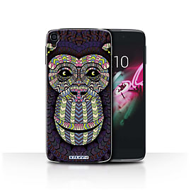 STUFF4 Phone Case/Cover for Alcatel OneTouch Idol 3 4.7/Monkey-Colour/Aztec Animal Collection Mobile phones
