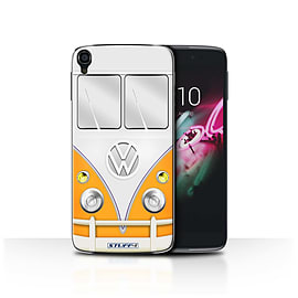 STUFF4 Phone Case/Cover for Alcatel OneTouch Idol 3 4.7/Orange Design/VW Camper Van Collection Mobile phones