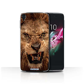 STUFF4 Phone Case/Cover for Alcatel OneTouch Idol 3 4.7/Lion Design/Wildlife Animals Collection Mobile phones