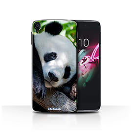 STUFF4 Phone Case/Cover for Alcatel OneTouch Idol 3 4.7/Panda Bear/Wildlife Animals Collection Mobile phones