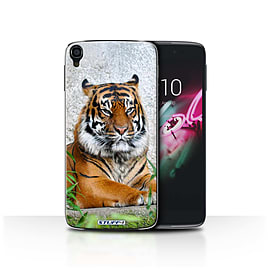 STUFF4 Phone Case/Cover for Alcatel OneTouch Idol 3 4.7/Tiger Design/Wildlife Animals Collection Mobile phones