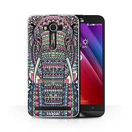 STUFF4 Phone Case/Cover for Asus Zenfone 2 Laser ZE600KL/Elephant-Colour/Aztec Animal Collection Mobile phones
