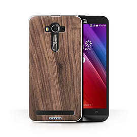 STUFF4 Phone Case/Cover for Asus Zenfone 2 Laser ZE600KL/Walnut/Wood Grain Effect/Pattern Collection Mobile phones