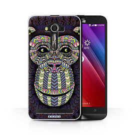 STUFF4 Phone Case/Cover for Asus Zenfone 2 Laser ZE601KL/Monkey-Colour/Aztec Animal Collection Mobile phones