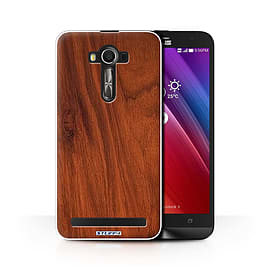 STUFF4 Phone Case/Cover for Asus Zenfone 2 Laser ZE601KL/Mahogany/Wood Grain Effect/Pattern Mobile phones