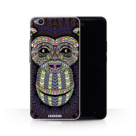 STUFF4 Phone Case/Cover for HTC One X9/Monkey-Colour Design/Aztec Animal Design Collection Mobile phones